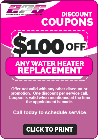 $100 OFF Water Heater Coupon