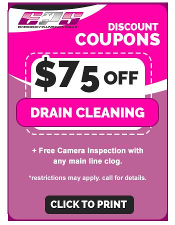 $75 off Drain Clean